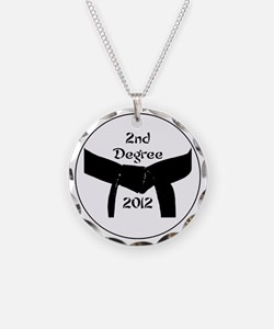 Martial Arts 2nd Degree Blac Necklace