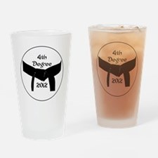 Martial Arts 4th Degree Black Belt Drinking Glass