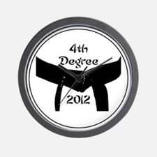 Martial Arts 4th Degree Black Belt Wall Clock