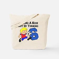 Soccer Boy Turning 6 Tote Bag