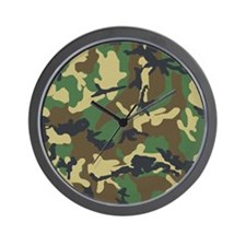 Camo Pattern Wall Clock