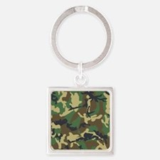Camo Pattern Square Keychain
