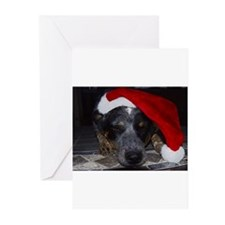 Christmas Cattle Dog Greeting Cards