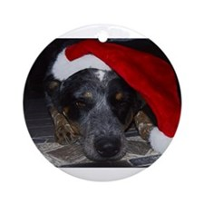 Christmas Cattle Dog Ornament (Round)