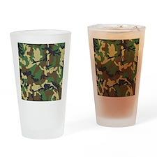 Camo Pattern Drinking Glass