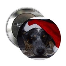 """Christmas Cattle Dog 2.25"""" Button"""