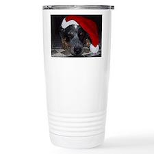 Christmas Cattle Dog Travel Mug