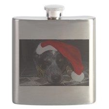 Christmas Cattle Dog Flask