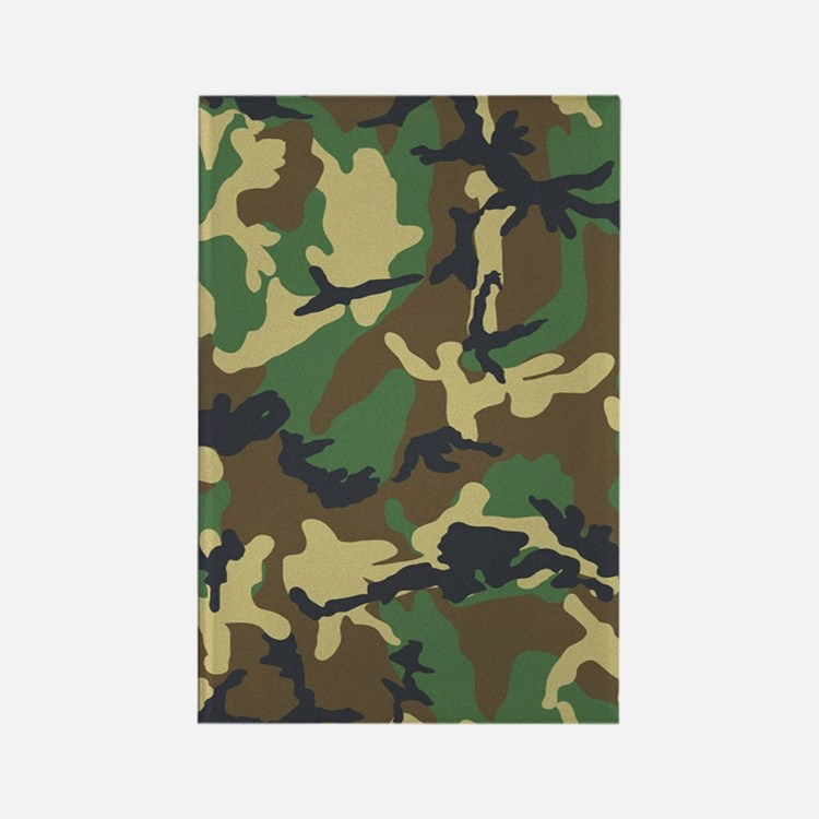 Camo Pattern Rectangle Magnet