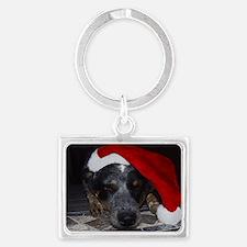 Christmas Cattle Dog Keychains