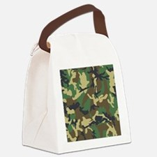 Camo Pattern Canvas Lunch Bag