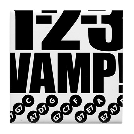 1-2-3 VAMP! Tile Coaster