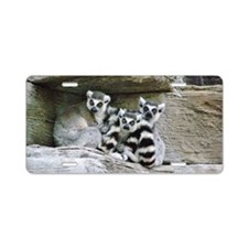 Lemurs Aluminum License Plate