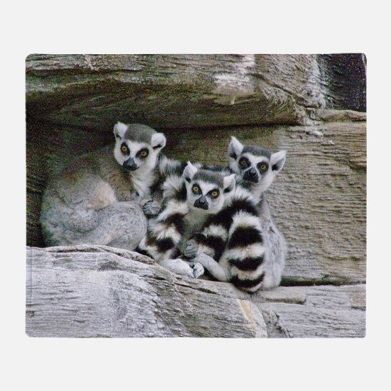 Lemurs Throw Blanket