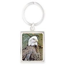 Bald Eagle Portrait Keychain