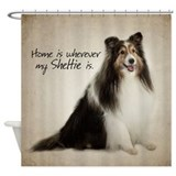 Shelties Shower Curtains
