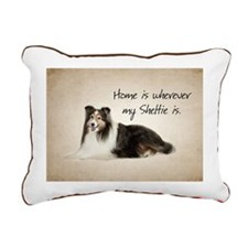 Mix and Match Sheltie Rectangular Canvas Pillow