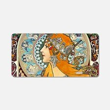 Toiletry Mucha La Plume Aluminum License Plate