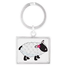 Little Lamb Landscape Keychain