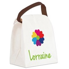 Lorraine-Heart-Flower Canvas Lunch Bag