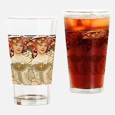 FF Mucha FChamp Drinking Glass