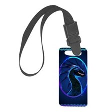 Horned Black Dragon _journal Luggage Tag