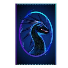 Horned Black Dragon _jour Postcards (Package of 8)