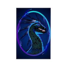 Horned Black Dragon _journal Rectangle Magnet