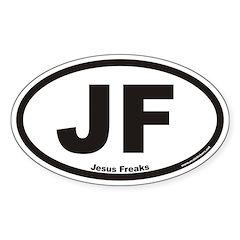 Jesus Freaks JF Euro Oval Decal