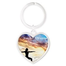 You_Are_A_Warrior Heart Keychain