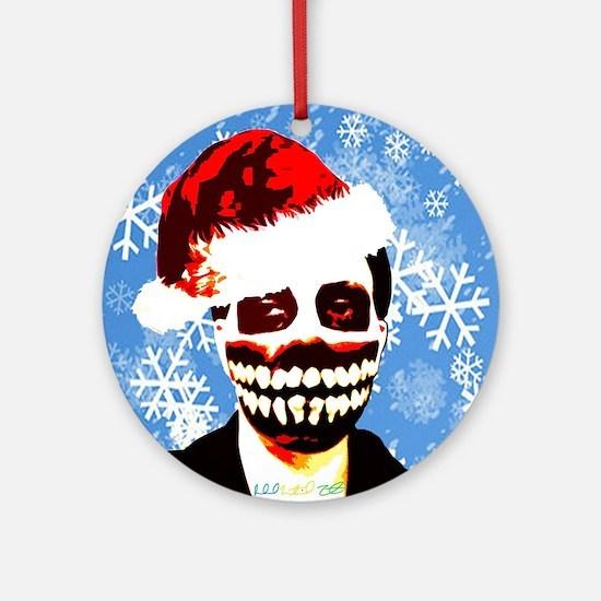 Monster Christmas Round Ornament