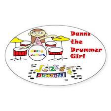 danni the drummer girl-trans_logo Decal
