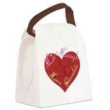 Love_chocolateshirt_vertical copy Canvas Lunch Bag