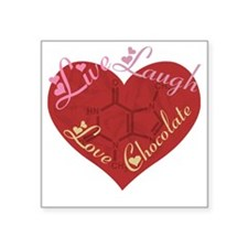 "Love_chocolateshirt_vertica Square Sticker 3"" x 3"""
