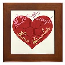 Love_chocolateshirt_vertical copy Framed Tile