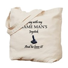 Game Man Joystick GF plain Tote Bag