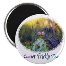 sunset prickly pear Magnet