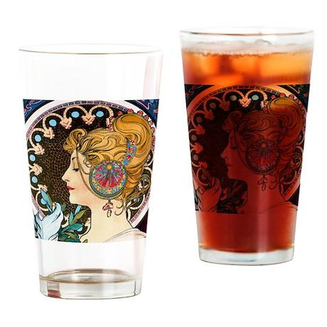 Btn Mucha Feather Drinking Glass