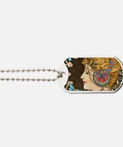 Toiletry Mucha Feather Dog Tags
