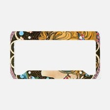 Toiletry Mucha Feather License Plate Holder