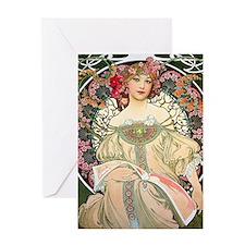 iPad Mucha FChamp Greeting Card