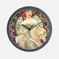 iPad Mucha FChamp Wall Clock