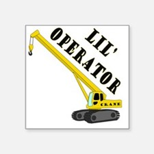 """Lil Crane Operator Square Sticker 3"""" x 3"""""""