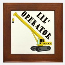 Lil Crane Operator Framed Tile
