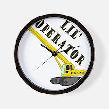 Lil Crane Operator Wall Clock