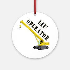 Lil Crane Operator Round Ornament