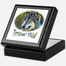 timber wolf 2 Keepsake Box