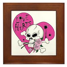 Love Hurts Skull.ai Framed Tile