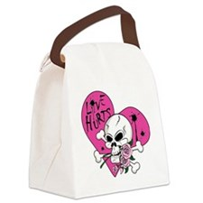 Love Hurts Skull.ai Canvas Lunch Bag