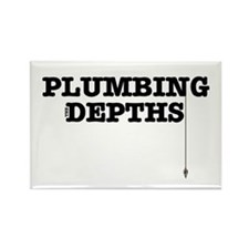 PLUMBING THE DEPTHS Rectangle Magnet
